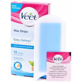 Veet Voskové pásky s proužkem pro snadné uchopení na nohy a tělo pro citlivou pokožku