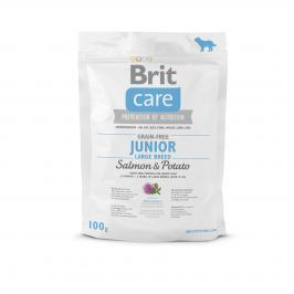VZOREK: Brit Care Grain-free Junior Large Breed Salmon & Potato 1ks