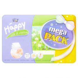 Bella Baby HAPPY mega pack čistící ubrousky hedvábí a bavlna 4 x 64 ks