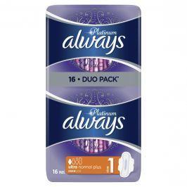 Always Platinum Ultra Normal Plus Hygienické Vložky 16ks
