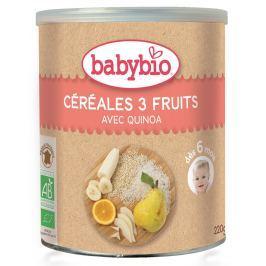 BABYBIO nemléčná rýžovo-quinoová kaše s ovocem