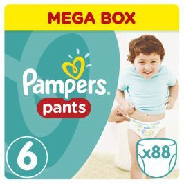 Pampers Pants plenkové kalhotky Extra Large Mega Box 16-22kg (velikost 6) 88ks