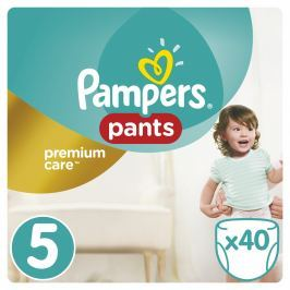 Pampers Premium Care Pants plenkové kalhotky Junior 12-18kg (velikost 5) 40ks