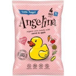 McLloyd ́s Little Angel Angelina Bio křupky mrkev a jablko 4x15g