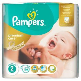 Pampers Premium Care plenky Mini 3-6kg (velikost 2) Jumbo Pack 96ks