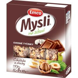 Emco Mysli na Zdraví Ovesné tyčinky čokoláda a ořechy