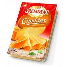 Président Cheddar plátkový sýr