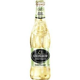 Strongbow Elderflower cider sklo