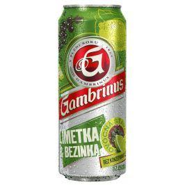 Gambrinus Limetka & bezinka míchaný nápoj z piva plech
