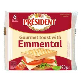 Président Emmental sýr toast plátky