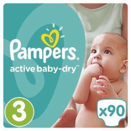 Pampers Active Baby-Dry plenky Midi 4-9kg (velikost 3) 90ks