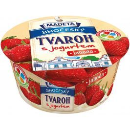 Madeta Jihočeský tvaroh s jogurtem jahoda