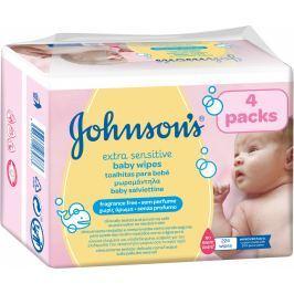 Johnson's Baby Extra sensitive vlhčené ubrousky 224ks