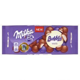 Milka Bubbly mléčná čokoláda z alpského mléka s porézní náplní z bílé čokolády