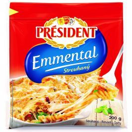 Président Emmental strouhaný sýr