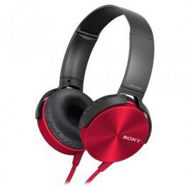 Sony MDR-XB450AP, červená