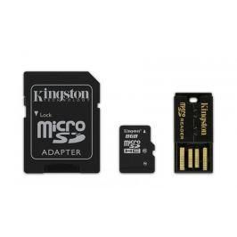 Kingston Micro SDHC Mobility Kit G2 8GB C10+adaptér, USB čtečka