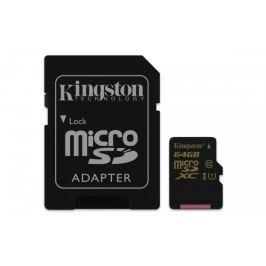 Kingston Micro SDXC 64GB Class 10 UHS-I + adaptér - SDCA10/64GB