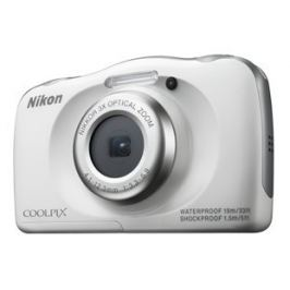 Nikon COOLPIX S33 white backpack kit