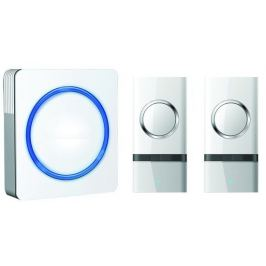 Solight 1L22 bezdrátový zvonek,2 tlačítka,do zásuvky,120m,bílý