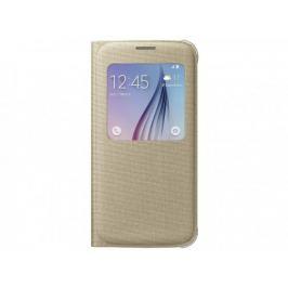 Samsung textilní pouzdro S-View pro Galaxy S6, zlaté
