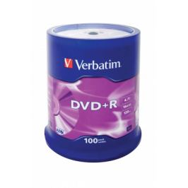 Verbatim DVD+R 16x, 100ks cakebox (43551)