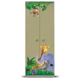 Junior - Skříň, džungle 1 (zelená)