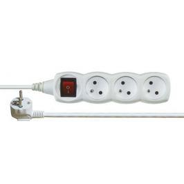 Prodlužovací kabel P1311 bílý 1,2m 3 zásuvky vypínač