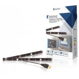 USB TV náladové osvětlení, 2 LED pásky, 50cm, RGB, sdálkovým ov