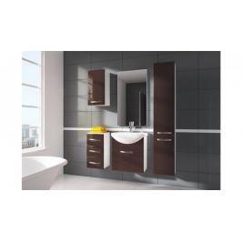 Siracusa - koupelnová sestava s umyvadlem (hnědá)
