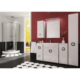 Palermo - Koupelnová sestava (bílá,boky bílé)