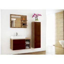 Genova - Koupelnová sestava, 1 umyvadlo (hnědá,boky tm.bříza)