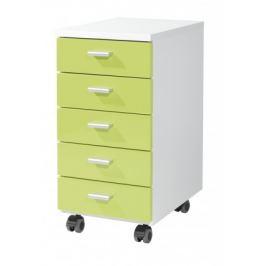 Office - kontejner (bílá / zelená)