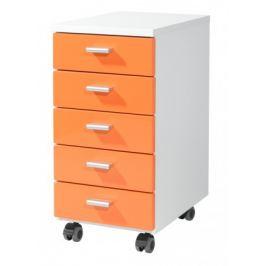 Office - kontejner (bílá / oranžová)