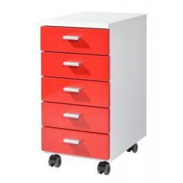 Office - kontejner (bílá / červená)
