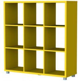 Box - regál 3x3 (žlutá)