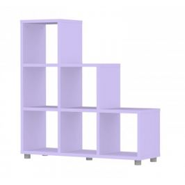 Box - regál 3x3, schody (lila)