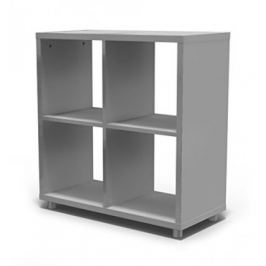 Box - regál 2x2 (chladná šedá)