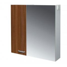 Melbourne - Zrcadlová skříňka, zrcadlo vpravo (bílá/ořech)