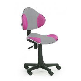 Flash 2- dětská židle (šedo-růžová)