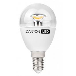 Canyon LED COB žárovka, E14, kompaktní, kulatá průhledná, 6W