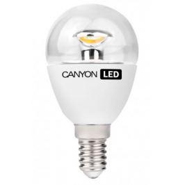 Canyon LED COB žárovka, E14, kompaktní, kulatá průhledná, 3,3W