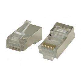 Konektory RJ45 STP CAT5 kabely slankovými vodiči 10 ks