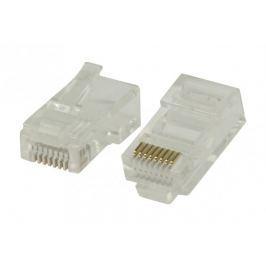 Konektory RJ45 pro UTP CAT5 kabely sdrátovými vodiči 10 ks