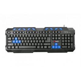 Klávesnice C-TECH GMK-102-B, USB, černo-modrá, multimediální