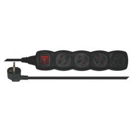 EMOS Prodlužovací kabel černý s vypínačem, 4 zásuvky, 5m