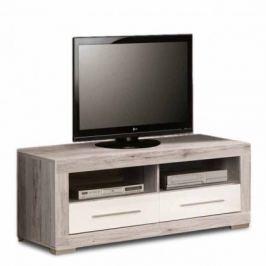Atrium - TV komoda (dub pískový/bílá lesk)