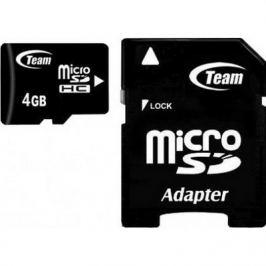 TEAM 4GB Micro SDHC/ Class 10/ + SD adaptér
