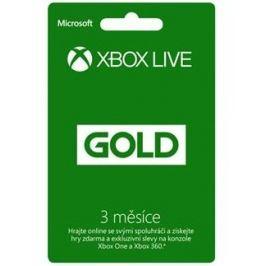 Microsoft Xbox LIVE Gold - zlaté členství 3 měsíce (52-00263)