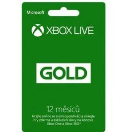Microsoft Xbox LIVE Gold - zlaté členství 12 měsíců (52M-00544)